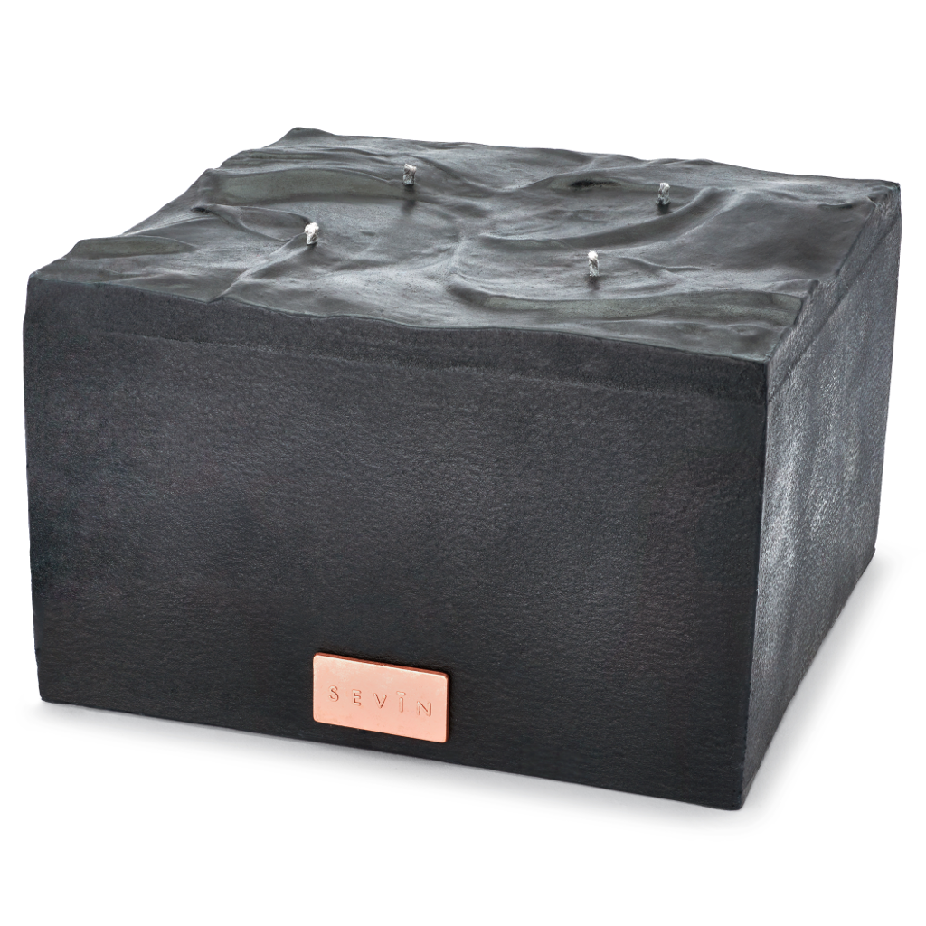 Marble-Black-Candle-Large