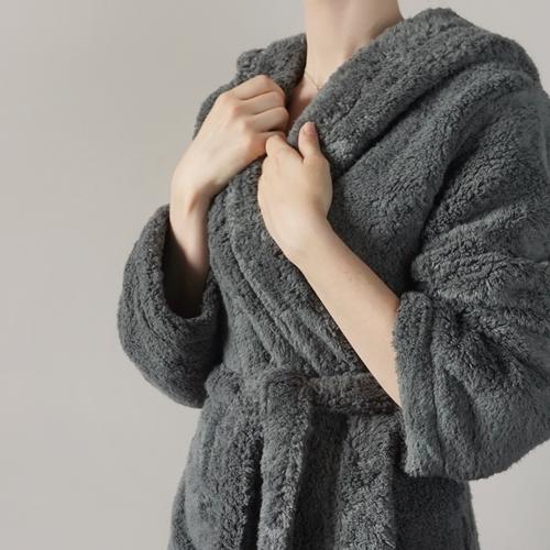 charcoal bath robe